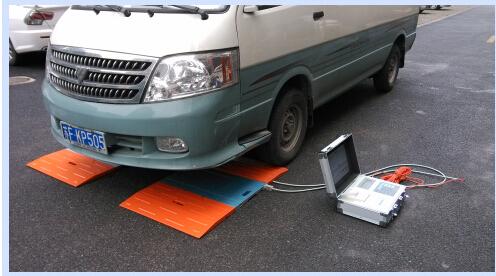 汽车生产厂用的是哪种称重测量衡器-亚津便携式电子汽车衡