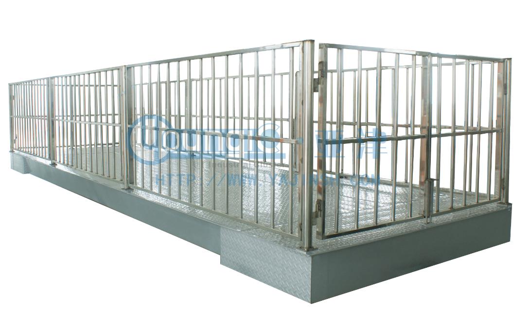 带围栏动物地磅,2吨不锈钢地磅秤