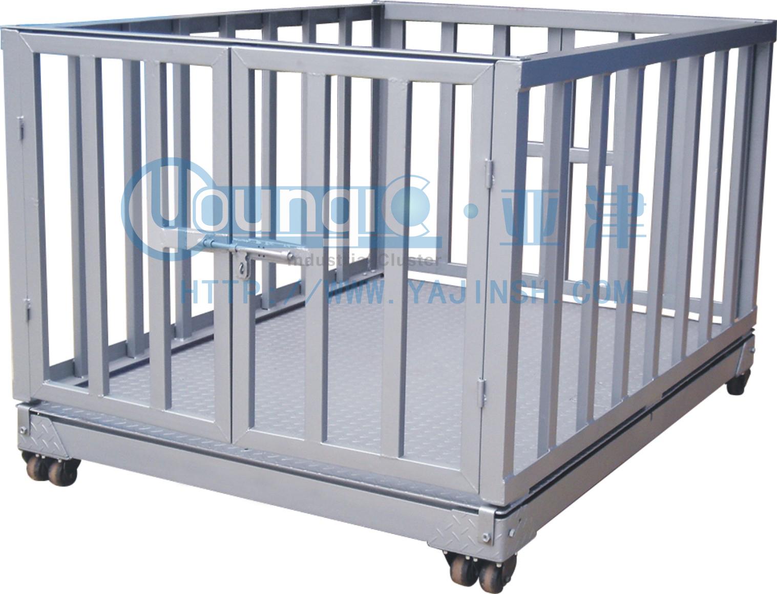 3T碳钢电子地磅,带围栏动物地磅厂家